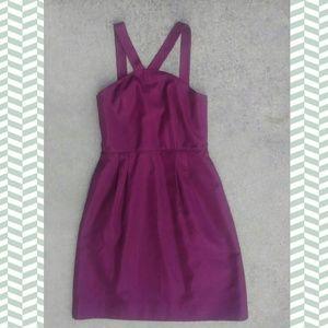 J crew racerback violet knee length formal dress 2